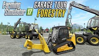 Farming Simulator 2017 | Garage Tour | Forestry Equipment