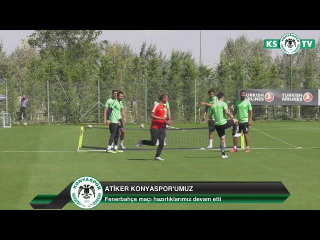 Atiker Konyaspor'umuz yaptığı antrenmanla Fenerbahçe maçı hazırlıklarına devam etti