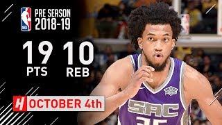 Marvin Bagley III Full Highlights Kings vs Lakers 2018.10.04 - 19 Pts, 10 Reb