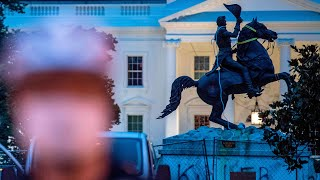Clashes erupt as protesters try to pull down Andrew Jackson's statue near White House