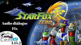 Cemu 1.15.2 Star Fox Zero 60fps 4K | Completamente jugable | Fix audio de dialogo
