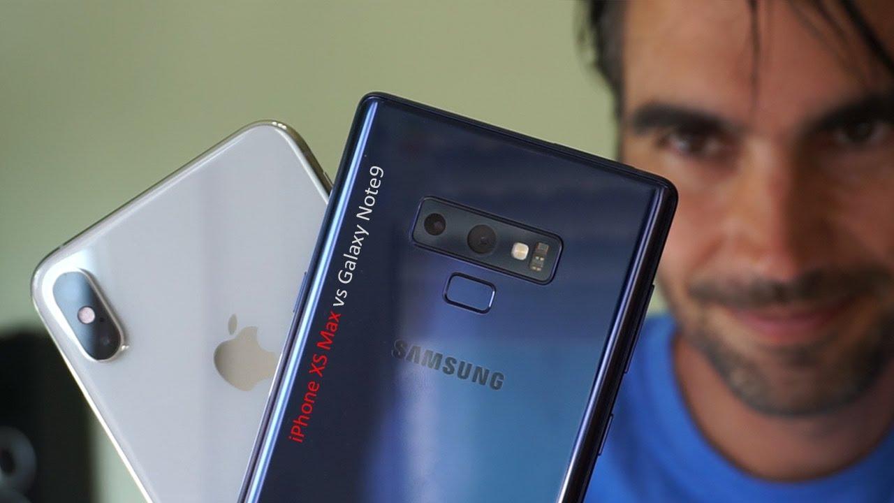 samsung note 9 vs iphone x español