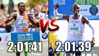 KENENISA BEKELE VS. ELIUD KIPCHOGE || MARATHON GREATNESS COMPARISON