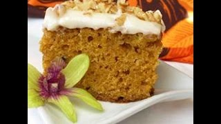 Easy Organic Pumpkin Cake / Bread With Cream Cheese Frosting