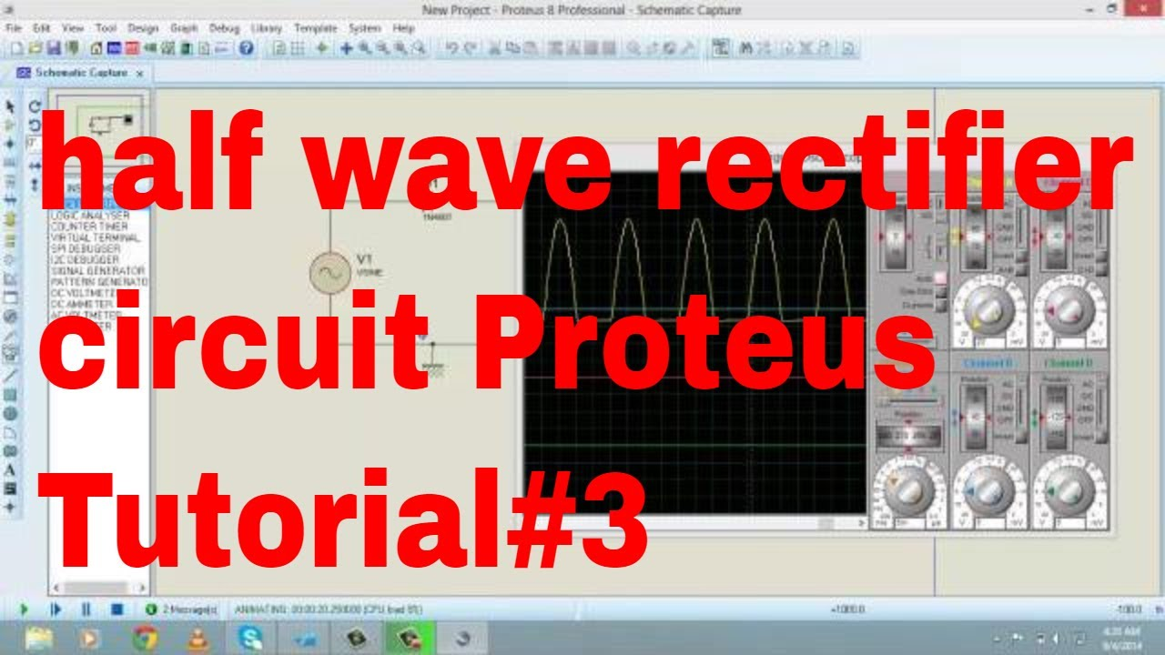 Half Wave Rectifier Circuit Using Proteus Tutorial3 Youtube Schottky Diodes Rectifiers Mounted On A Printed Boards For