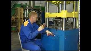Вертикальный гидравлический пресс ПВ100.vob(Пресс развивает усилие до 100 тонн, имеет ход плиты до 250 мм. Высокая производительность станка обеспечиваетс..., 2012-05-11T04:00:21.000Z)