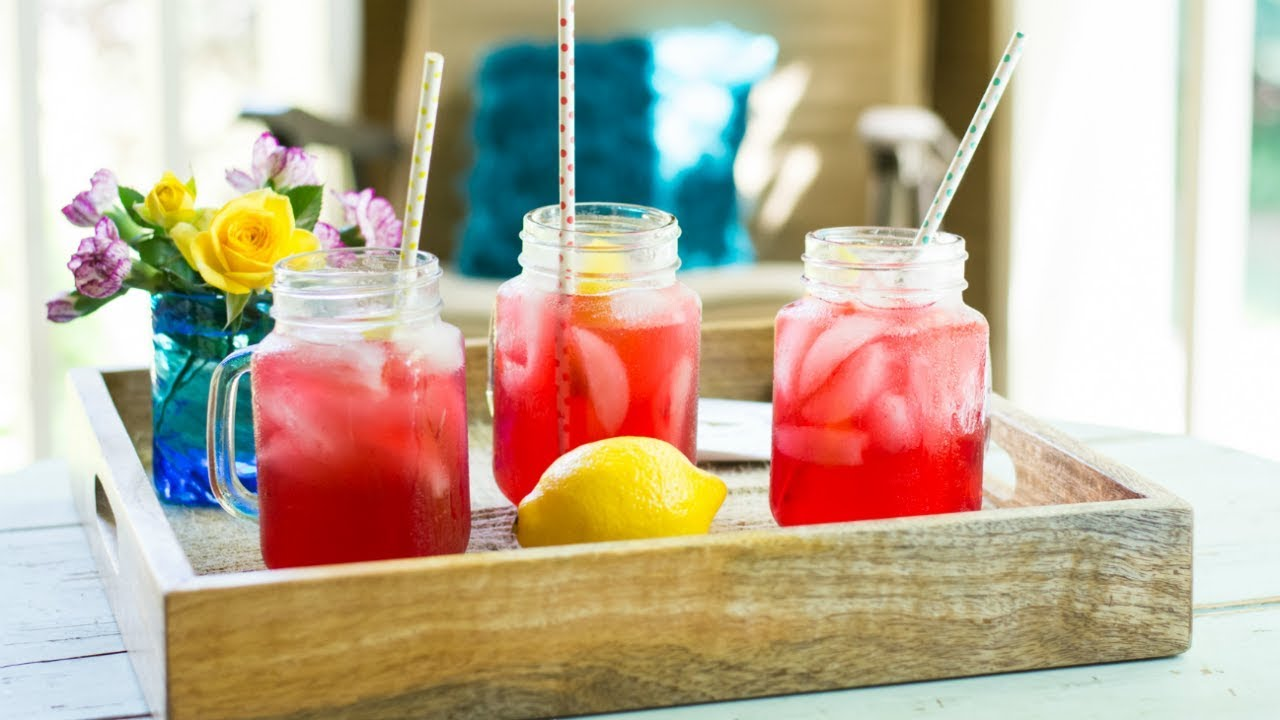 Pink Hibiscus Lemonade Non Alcoholic Plant Based Summer Drink