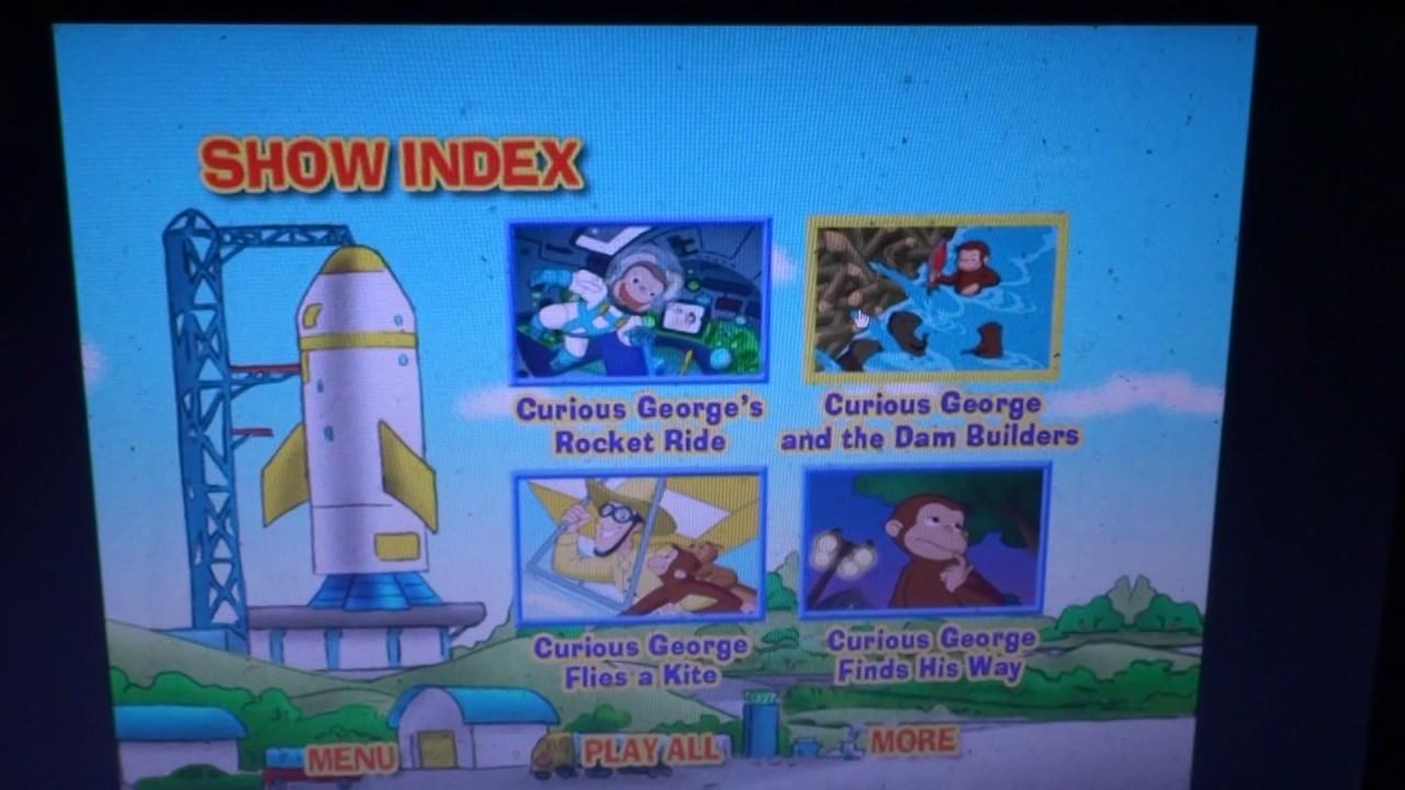 menu walkthrough of curious george rocket ride youtube
