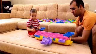 строим самолетик вместе! Детский образовательный обучающий конструктор типа Лего (Lego) Полесье