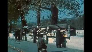 Paris 1945 COLOR FOOTAGE in HD