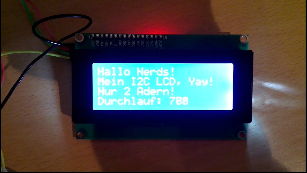 Arduino with lcd over i c youtube