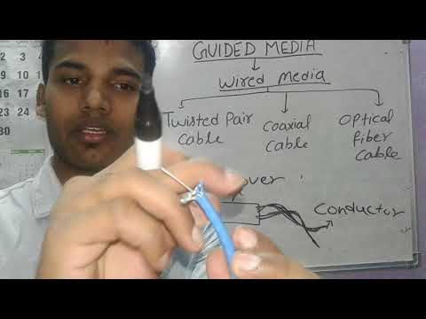 guided media in hindi || twisted pair cable || coaxial cable || optical fiber cable