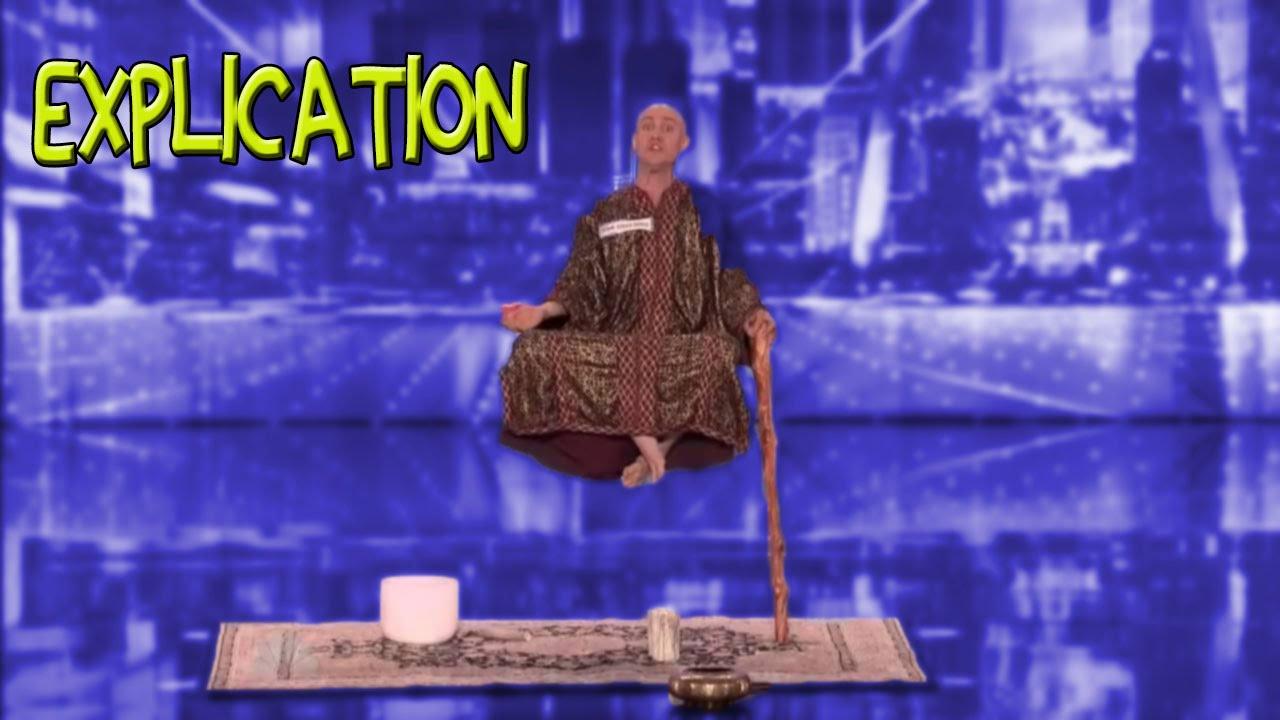 tour de magie levitation canne
