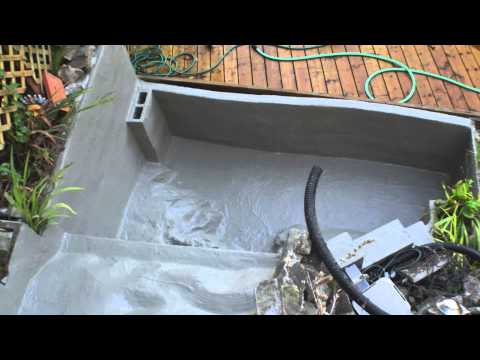 Sealing Pond With Thoroseal And Acryl 60 Youtube