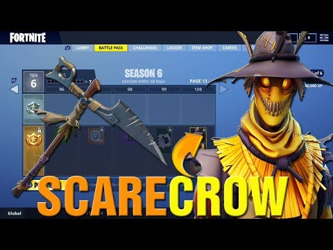 Fortnite How To Get FREE SCARECROW Skin In Fortnite! New HALLOWEEN HAY MAN SKIN Gameplay LIVE!