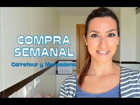 COMPRA SEMANAL ALIMENTACIÓN 26-04-16 | Carrefour y Mercadona ! Rosa Pastel