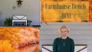 Farmhouse Bench DIY! | Porch Redo | Farmhouse Porch
