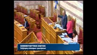 The speaker excrete member parliament Golden Dawn - Αποβολή βουλευτή Βουλή