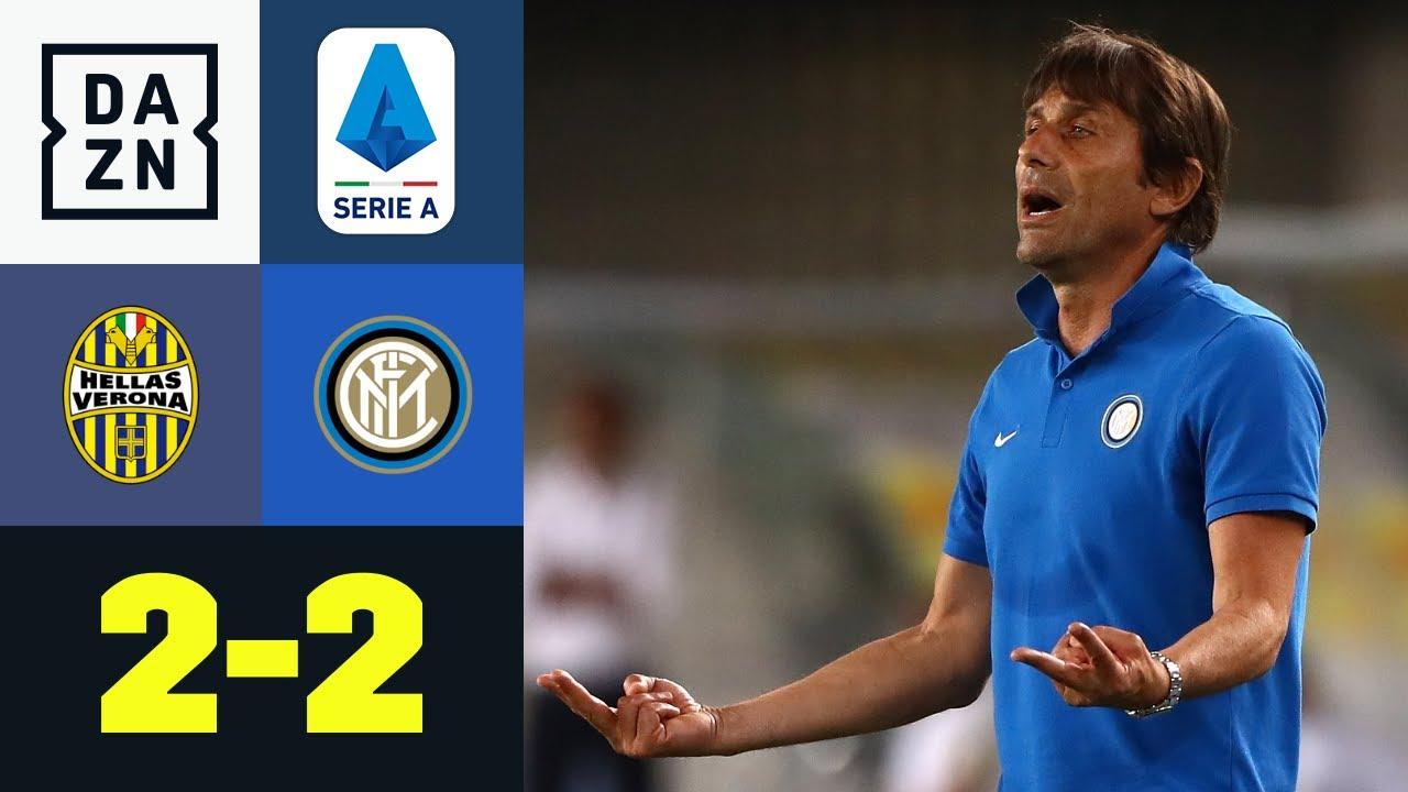 Inter verspielt Sieg und fällt zurück: Hellas Verona - Inter Mailand 2:2 | Serie A | DAZN Highlights
