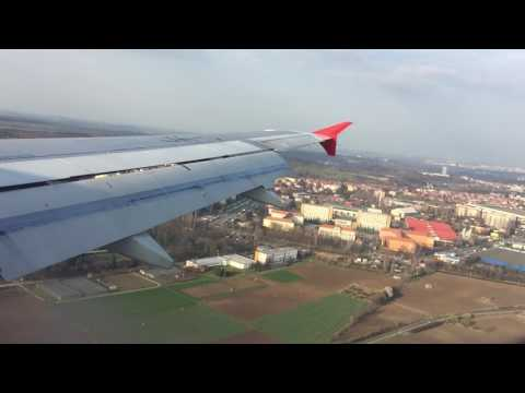 Aeroflot. Prague. Landing.