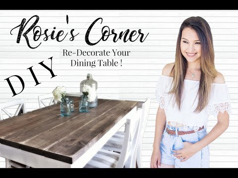 DIY Farmhouse Decor, dinning room makeover - Rustic Style