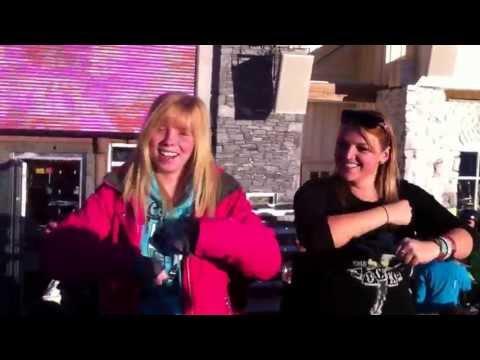 Dancing at La Follie Douce Meribel