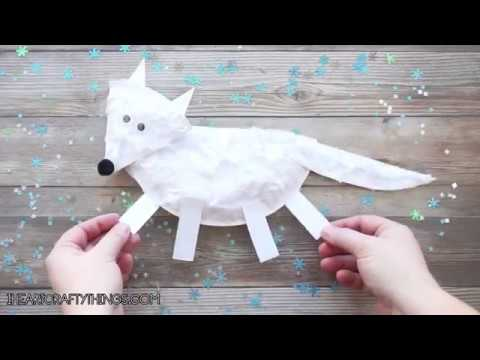 Paper Plate Arctic Fox Craft For Kids Youtube