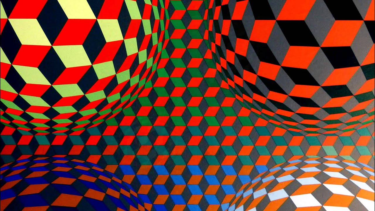 Op art uses color to create - Op Art Of Vasarely