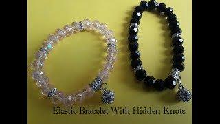 How to Make  an Elastic Bracelet With Hidden Knots, DIY