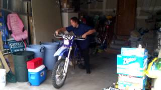 WR400 short guy ride!