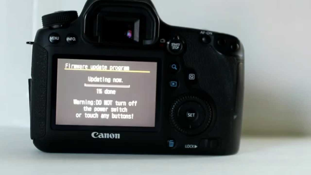 how to update firmware canon 600d