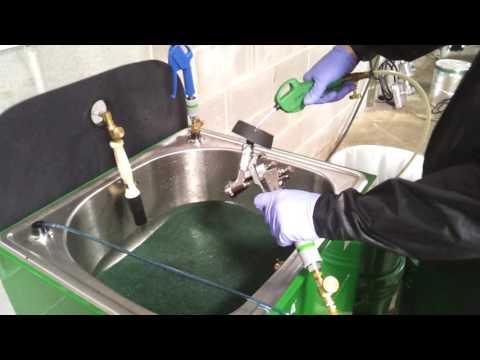 E100M Spray Gun Cleaning Procedure