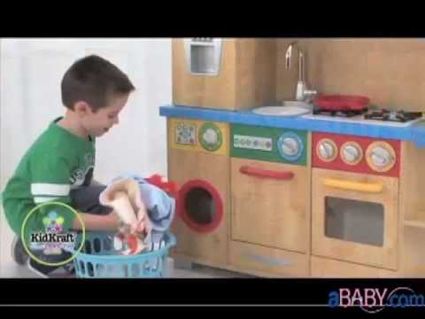 Kidkraft Play Kitchen Set kidkraft kids play kitchen sets -- cook together kitchen - youtube