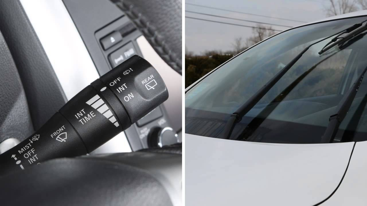 2014 nissan versa note - windshield wiper and washer controls - youtube