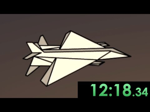 I speedrun creating the ultimate paper airplane in Flight