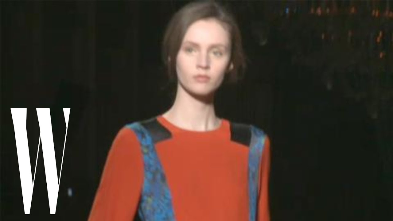 ace6c65351 Dries Van Noten Fall 2011 - runway fashion show - W Magazine - YouTube