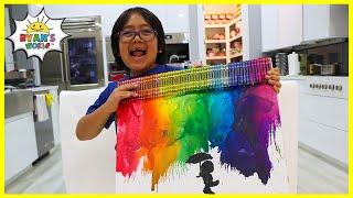 DIY Crayon Melting Art for Kids with Ryan!!!