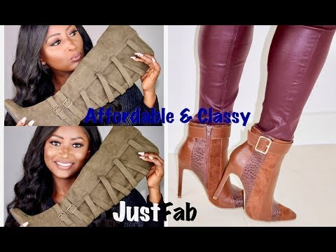 SHOE HAUL | CLASSY & AFFORDABLE  WINTER BOOTS | JUSTFAB