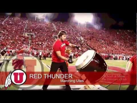 RED THUNDER - University of Utah Marching Band - Taiko Drum