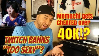 """Momochi gets CHEATED and TWITCH bans """"TOO SEXY""""!? Button Check"""