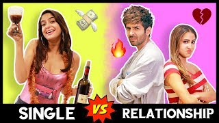 SINGLE VS. RELATIONSHIP😭 | Ft. Kartik Aaryan, Sara Ali Khan | Love Aaj Kal | Anisha Dixit
