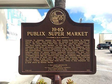 1940 Winter Haven Publix Super Market  - Historic Marker Ceremony And Unveiling