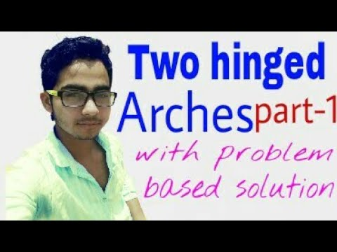 Two Hinged Arches In Hindi | Part-1 | Arch Definition & Problem Based Solution|  Structural Analysis