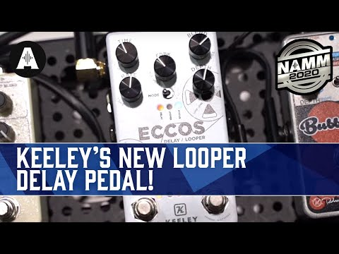 Keeley Eccos Delay Looper - Two Pedals In One?! - NAMM 2020