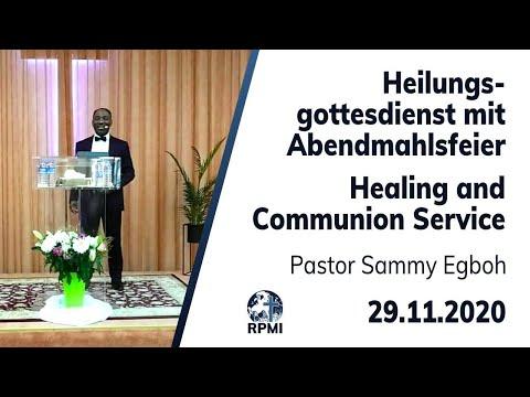 RPMI Heilungsgottesdienst vom 29.11.2020 mit Pastor Sammy Egboh