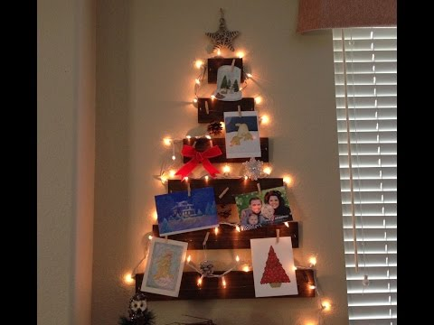 DIY Christmas Decor - Wooden Tree Christmas Card Holder