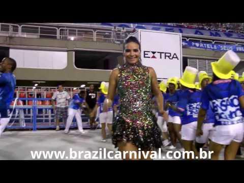 SHAYENE CESÁRIO AT BRAZIL ´S FAMOUS SAMBADROME : DIVA FROM PORTELA at 2014 PARADE