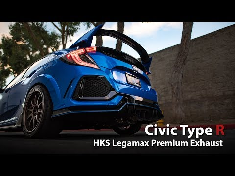 HKS Legamax Exhaust 2017 Civic Type R FK8