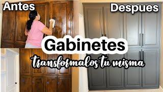 COMO PINTAR LOS GABINETES!Tips para pintar gabinetes de madera. Transforma tus gabinetes !