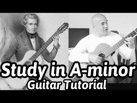Study in A-minor   Dionisio Aguado   Classical Guitar Tutorial   NBN Guitar